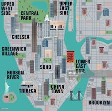 Manhattan New York Map by Illustrated Map Of Manhattan New York City Vector Art Getty Images