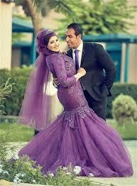 brautkleid lila mode nach maß lange hülse muslim mit brautkleider lila