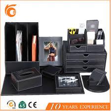 Desk Set Organizer Luxury Pu Desk Set Office Faux Leather Stationery Set Desktop