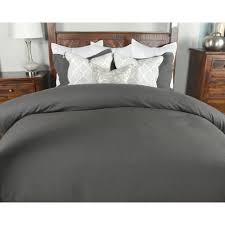 charcoal bedding harlow charcoal linen blend queen duvet cover v011500 the home depot
