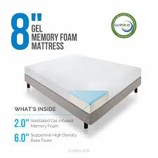 King Size Memory Foam Mattress Topper Amazon Com Lucid 8 Inch Memory Foam Mattress Dual Layered