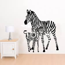 bedroom stencils promotion shop for promotional bedroom stencils mummy zebra and calf wall sticker african animal vinyl decal art children nursery decor home bedroom stencil mural