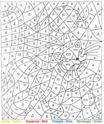 cat color by number coloring page color this pinterest cat