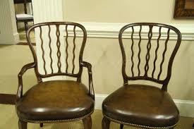 Antique Reproduction Dining Chairs Antique Mahogany Shield Back Dining Room Chairs With Leather