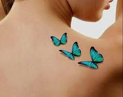 temporary 3d butterflies by unrealinkshop