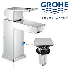 grohe eurocube mono basin bath bathroom sink mixer tap with click