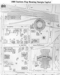 Maps Of Georgia Maps 1886 Sanborn Map Of Georgia Capitol And Surrounding Area