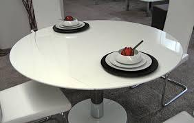 Round White Pedestal Dining Table Docksta Table Ikea Throughout White Round Dining Table Design