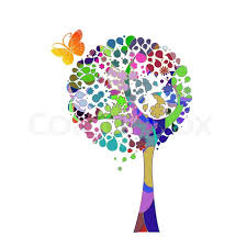 tree and butterfly vector stock vector colourbox