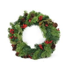 christmas wreath berry and pine cone artificial christmas wreath unlit