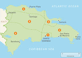 Central America And Caribbean Map Quiz by Map Of The Dominican Republic Dominican Republic Regions Rough