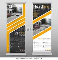 free printable vertical banner template yellow roll business brochure flyer banner stock vector 2018