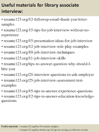 top 8 library associate resume samples