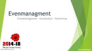 Financiering Evenmanagment Crowdmanagement Risicoanalyse U2013 Financiering