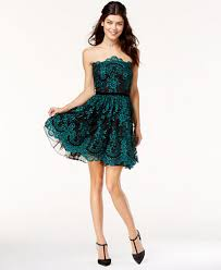 say yes to the dress juniors u0027 strapless lace dress a macy u0027s