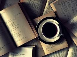 reading images books with coffee wallpaper and background