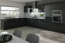 Black Kitchen Cabinets Extraordinary Modern Black Kitchen Cabinets Stunning Decorating