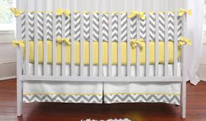Zig Zag Crib Bedding Set Featured Bedding Collection Gray And Yellow Zig Zag Carousel