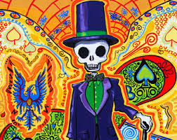 Masonic Home Decor Trippy Art Gothic Home Decor Masonic Skeleton Poster Day Of
