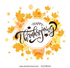 happy thanksgiving lettering typography stock vector