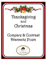 thanksgiving and compare and contrast diamante poem tpt