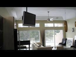 Swivel Ceiling Tv Mount by Ceiling Tv Installation Youtube