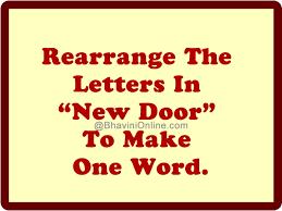 rearrange the letters in