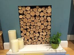 Unused Fireplace Ideas Silver Birch Round Logs All Hand Finished At One End Stacked