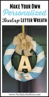 halloween burlap wreath personalized burlap letter wreath tutorial thrifty little mom