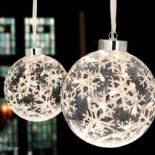 large hanging glass bauble with 20 led lights a light