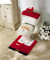 Amazon OliaDesign Christmas Decorations Happy Santa Toilet