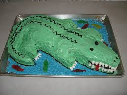 alligator cake 6 steps with pictures