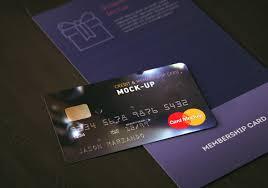 Membership Cards Design Membership Bank Credit Card Mock Up On Behance