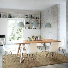 Eames Chair Dining Table Modern Eames Chair Chairs Dining Room With End Table Wall Decor