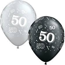 50th birthday balloons birthday silver black balloons
