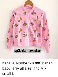 banana sweater up2date sweater banana bomber 78000 bahan baby terry all size fit
