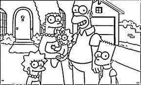 simpson coloring pages bart homer lisa and marge simpsons coloring pages 215809