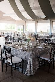 renting tablecloths for weddings glittery linens mayo silver weddings