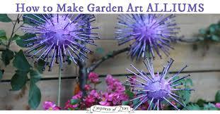 Garden Art To Make - how to make giant garden art alliums empress of dirt