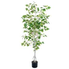 romano 5 ft birch artificial tree 50 10014 r the home depot
