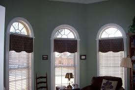Valances For Bay Windows Inspiration Big Arched Window With Curtain Valances Arched Windows In