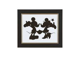 mickey minnie silhouette i art images mickey mouse and minnie mouse silhouette i large gray