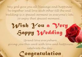 marriage celebration quotes happy wedding wishes for on a card