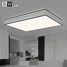 plafoniere a soffitto moderne bwart rectangleplexiglass moderne plafoniere a led per soggiorno