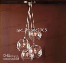 Globes For Chandelier 4 Light Edison Glass Globe Chandelier Light Pendant L Hanging