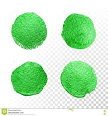green watercolor brush blob vector oil paint smear polish stains