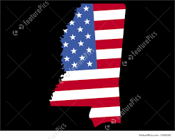 State Map Of Mississippi by Map Of Mississippi With Flag Stock Illustration I1599398 At