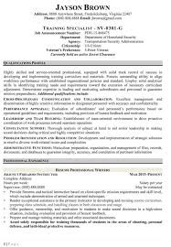 Resume Security Clearance Example by Federal Contract Specialist Resume Free Resume Example And