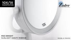 zadro max bright sunlight vanity mirror u0026 reviews wayfair
