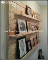 photo wall made of recycled pallet wood 1001 pallets